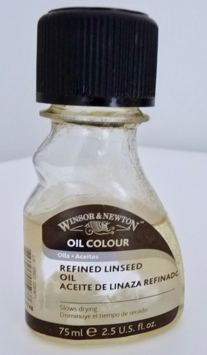 Bottle of Refined Linseed Oil