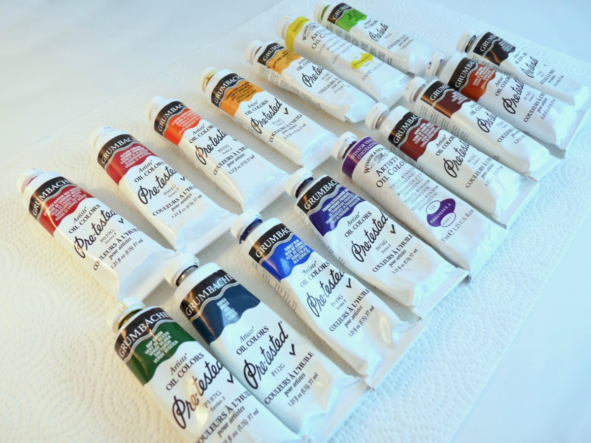 Selection of oil paints