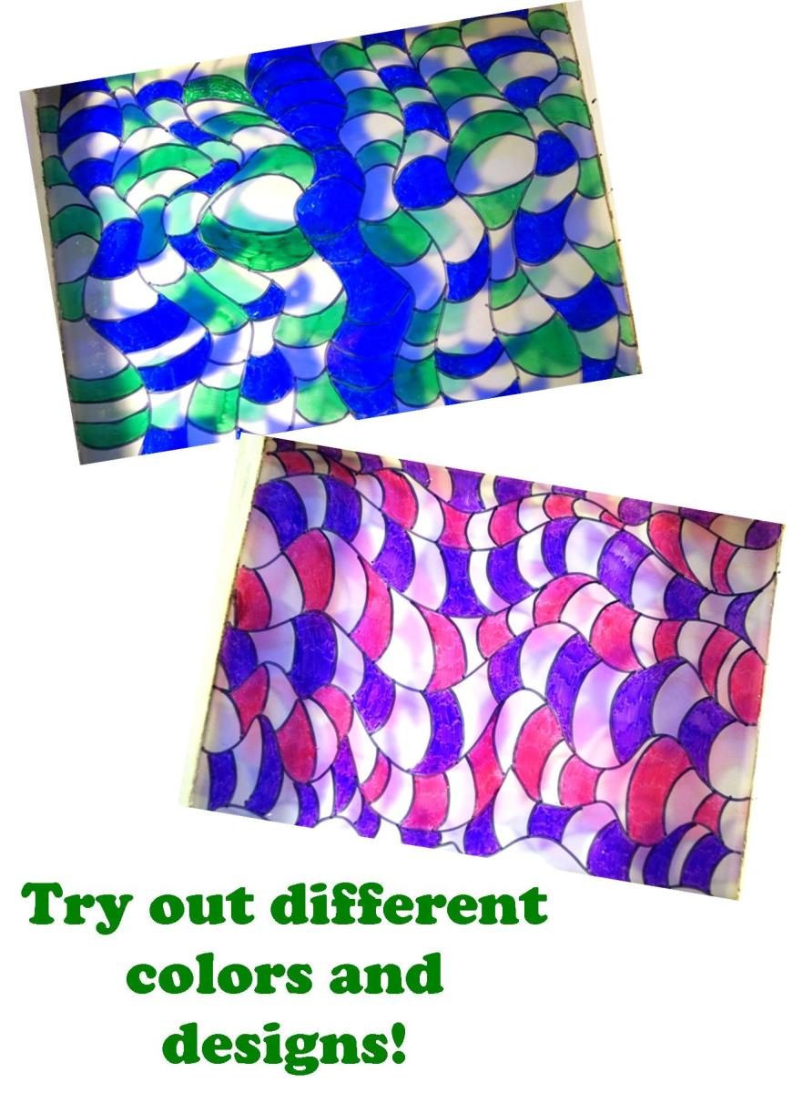 Different colors have different effects for stained glass.