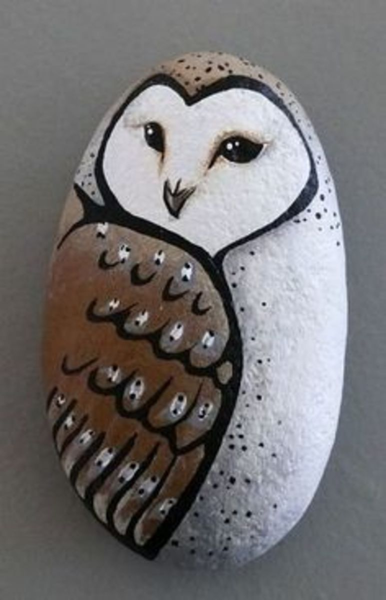 Painting On Stones Is A Craft That Rocks FeltMagnet