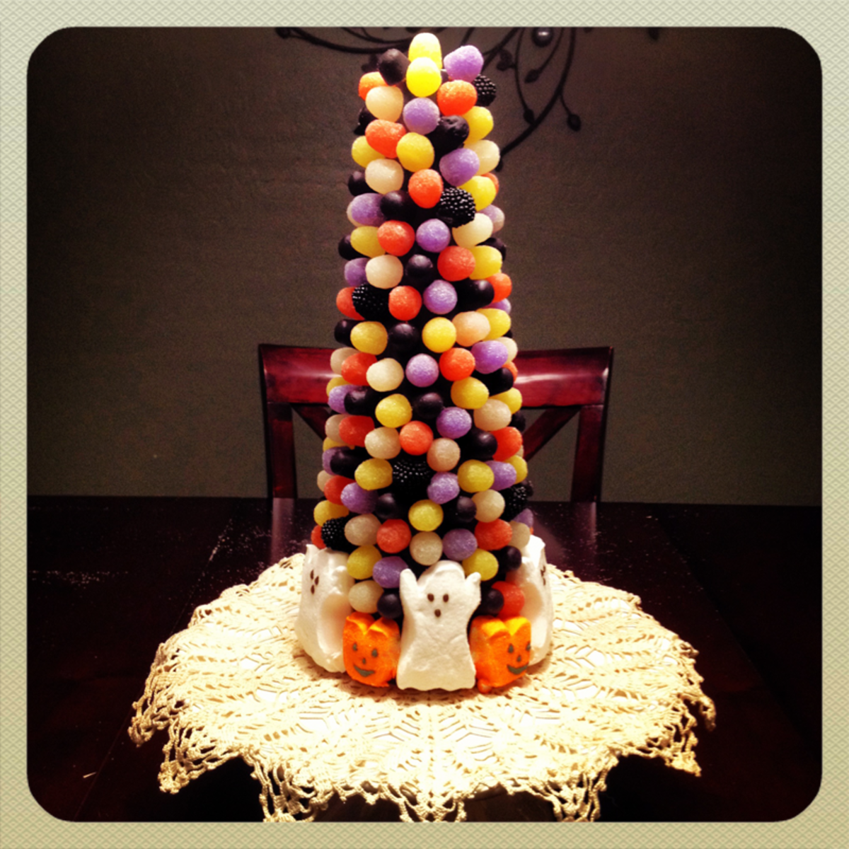 Halloween candy tree craft project