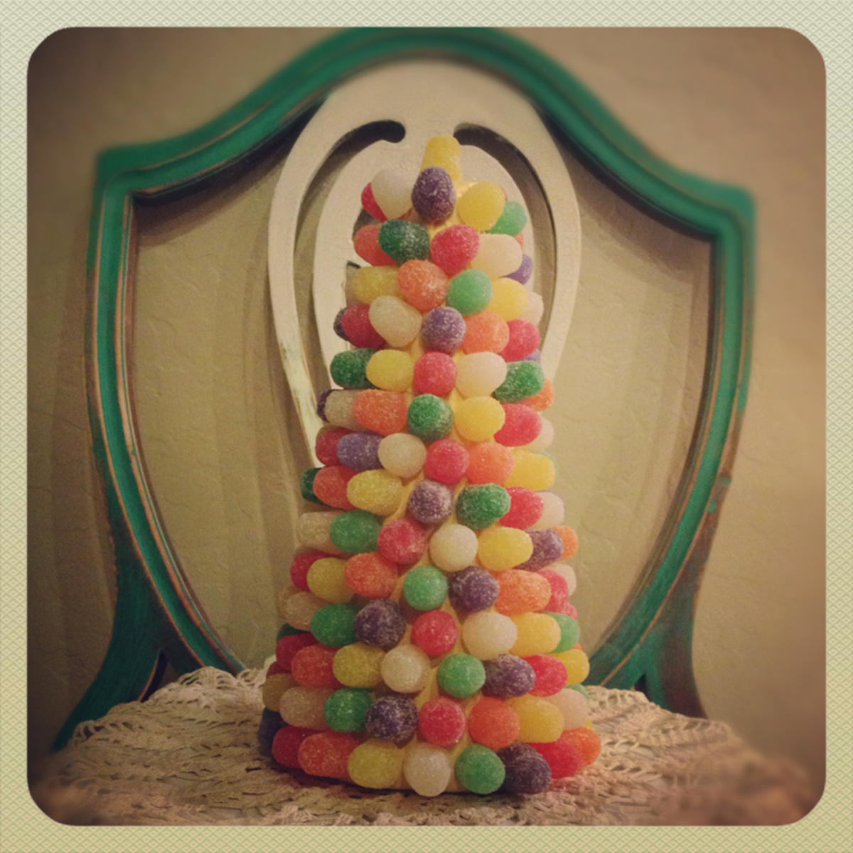 gum drop candy tree craft