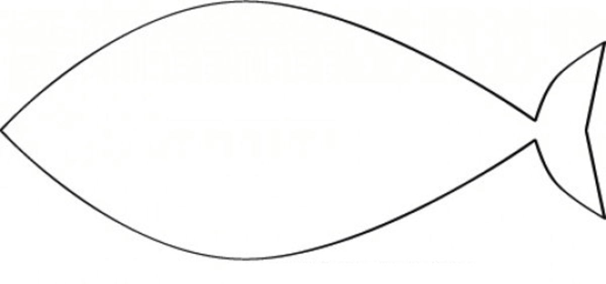Fish Template Coloring Page