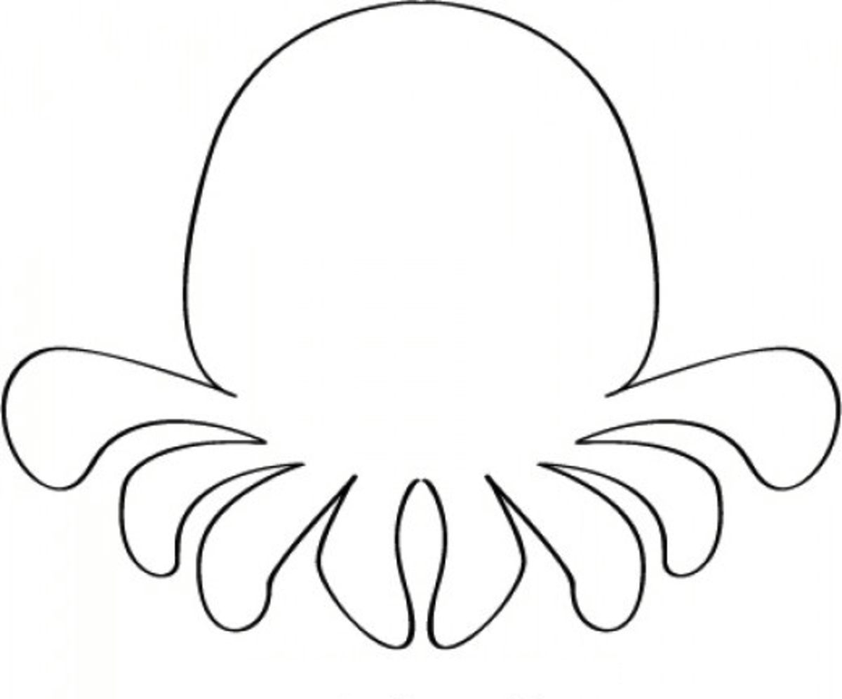 Octopus Template Coloring Page
