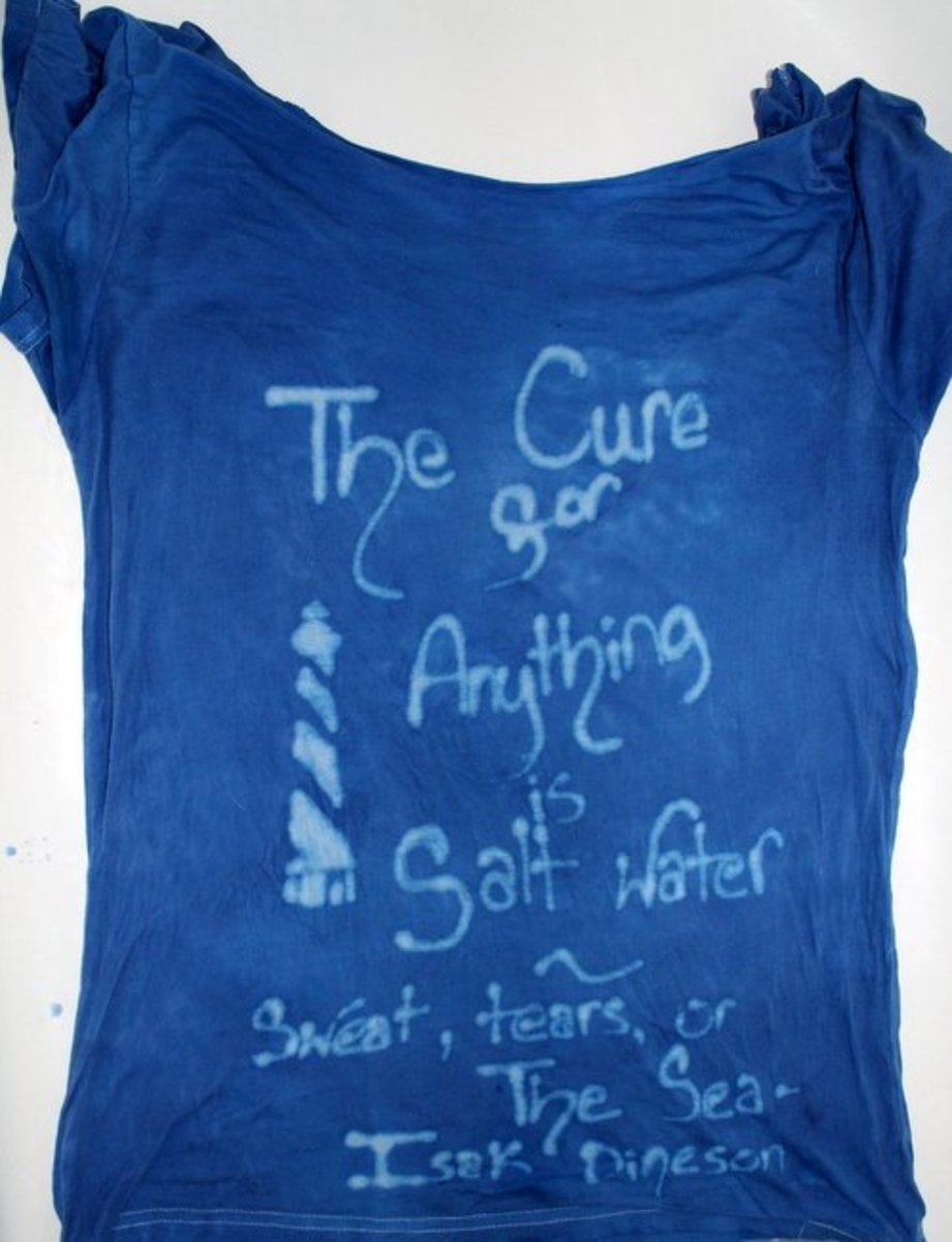 The cure for anything is salt water - sweat, tears, or the sea ~ Isak Dineson