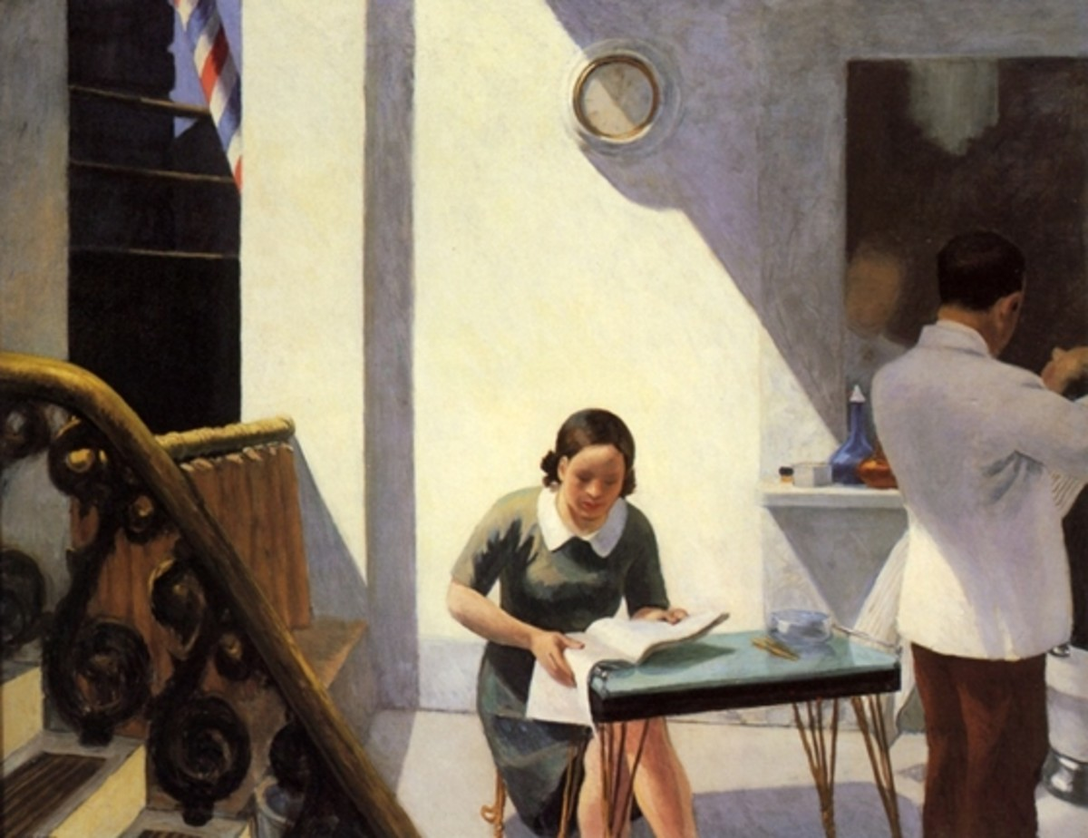 """The Barber Shop"" by Edward Hopper"