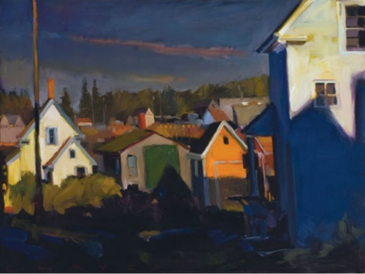 """""""Side Yard, Vinalhaven,"""" by Connie Hayes"""
