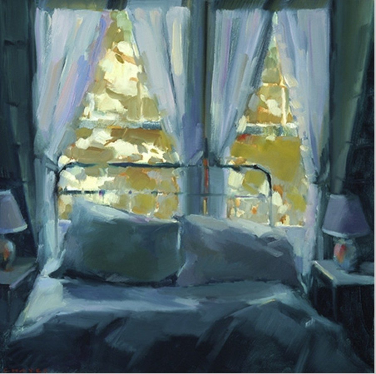 """""""Bed at Christmas Cove,"""" by Connie Hayes"""