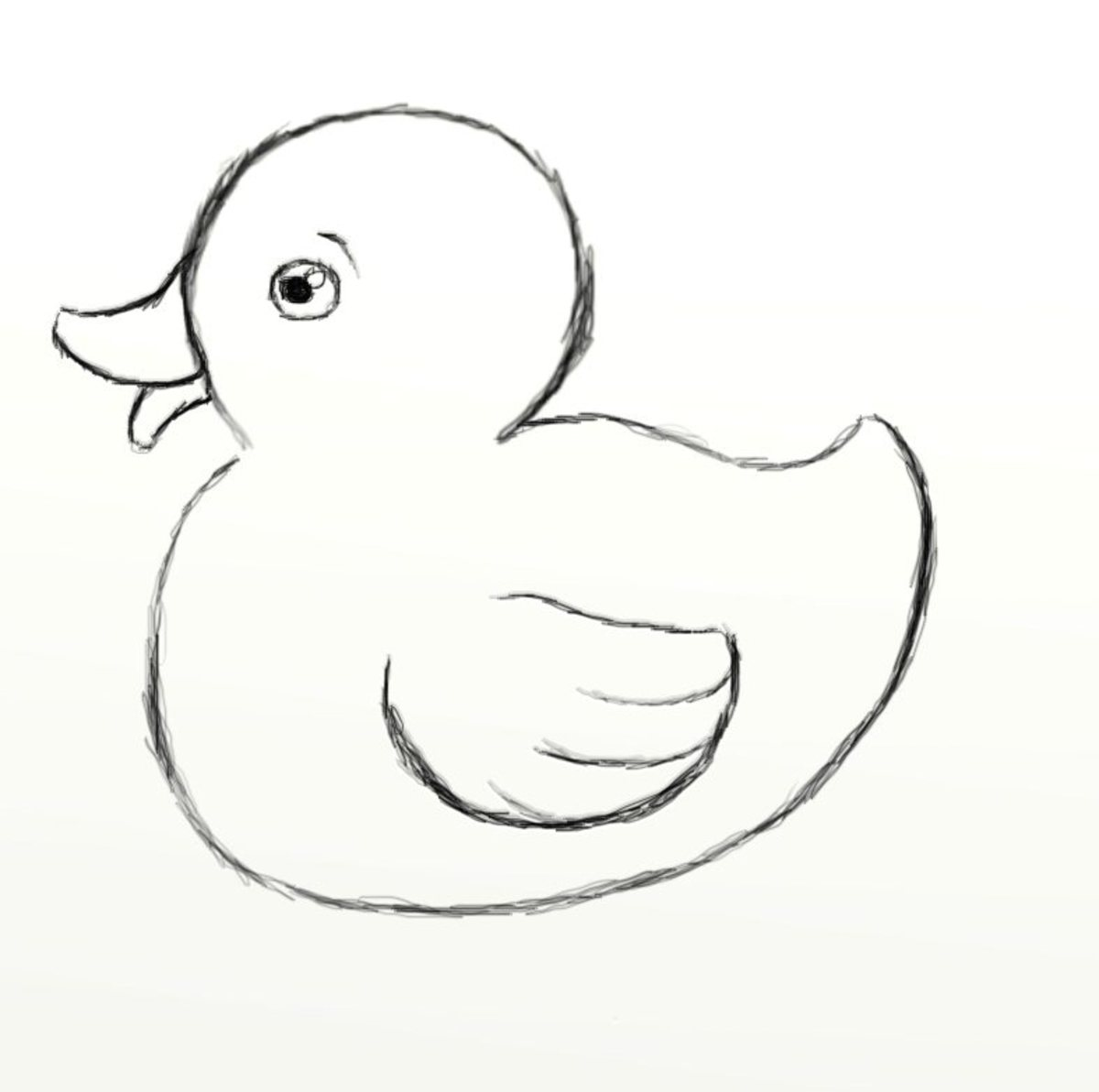 Drawing Lines With Latex : How to draw a rubber duck feltmagnet