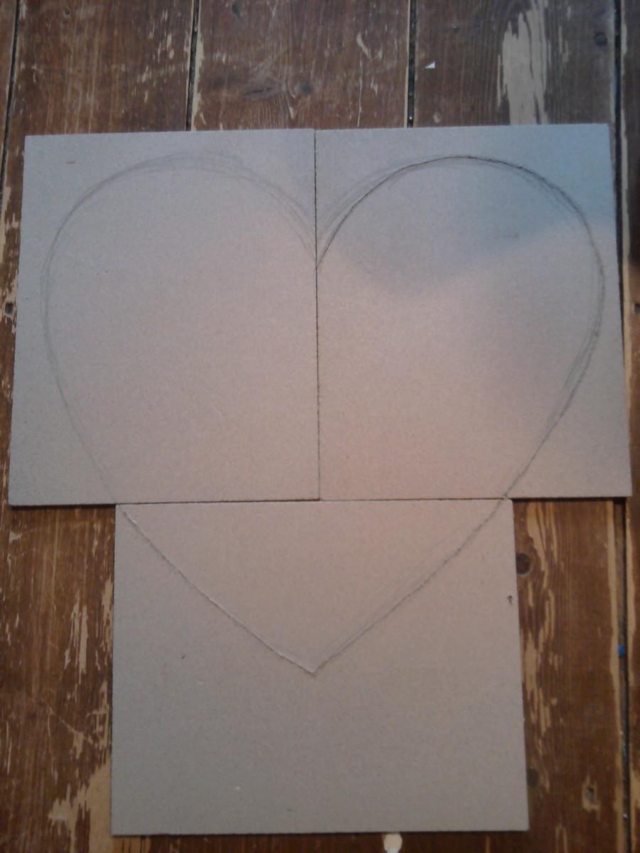 Step 2: Draw heart shape