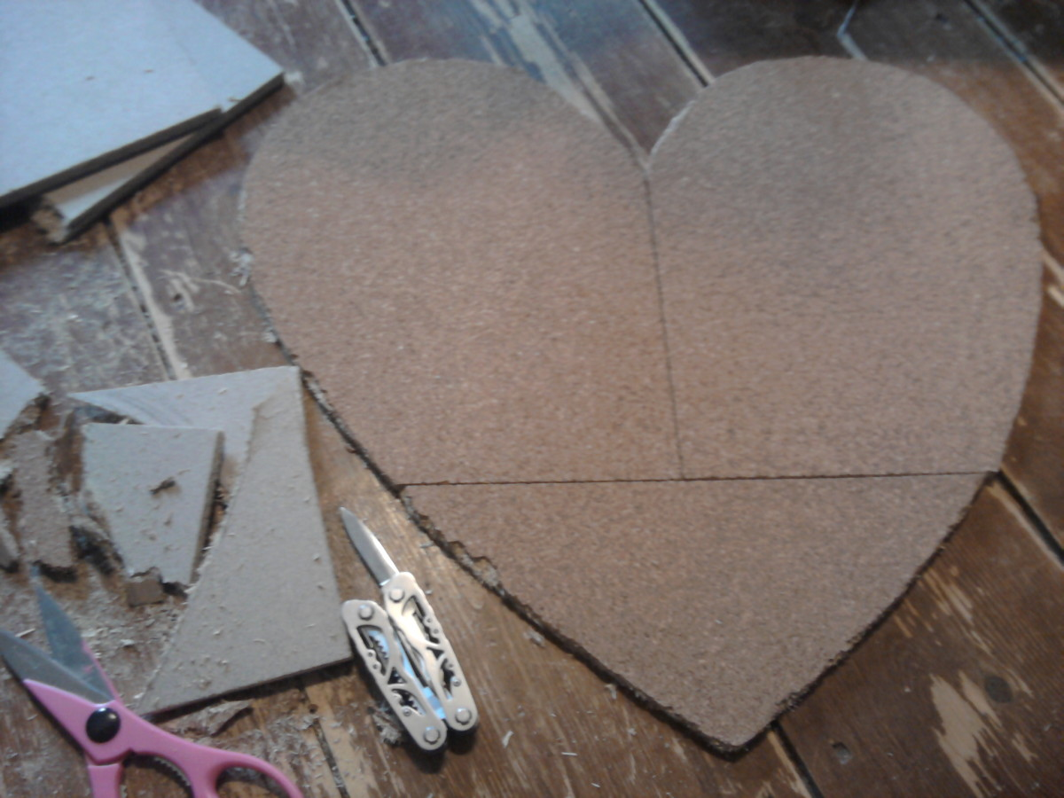 Here is your finished heart. Mount on wall.