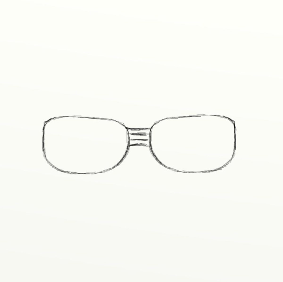 How to draw eye glasses feltmagnet next will draw the bridges of the eye glasses this particular pair will have two bridges in total one on top of the other draw two simple lines that ccuart Gallery