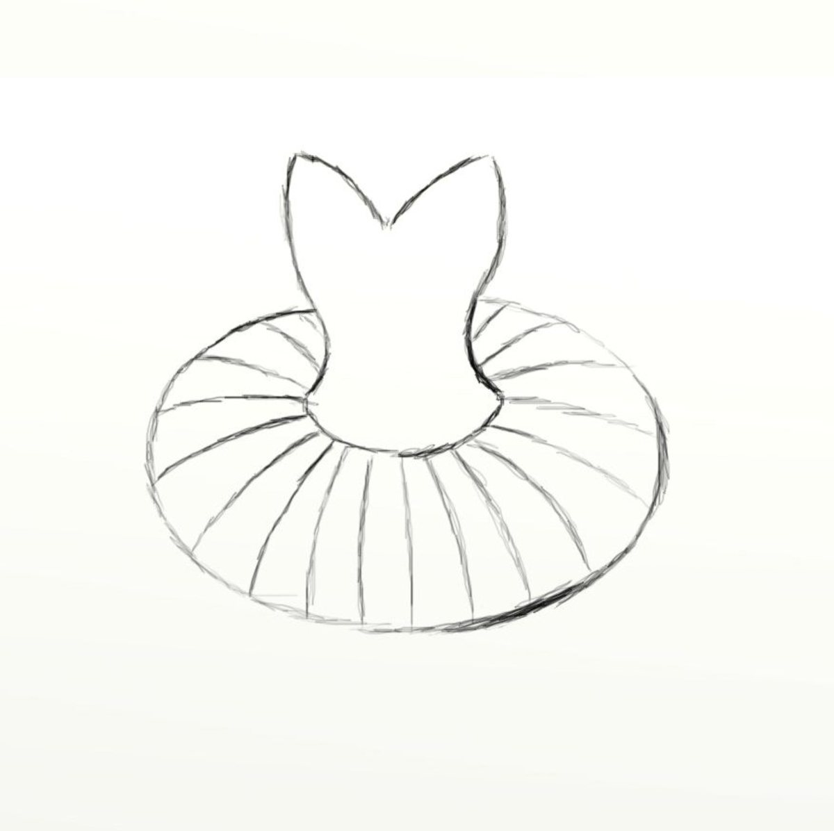 How to draw a tutu feltmagnet for Ballerina drawing step by step