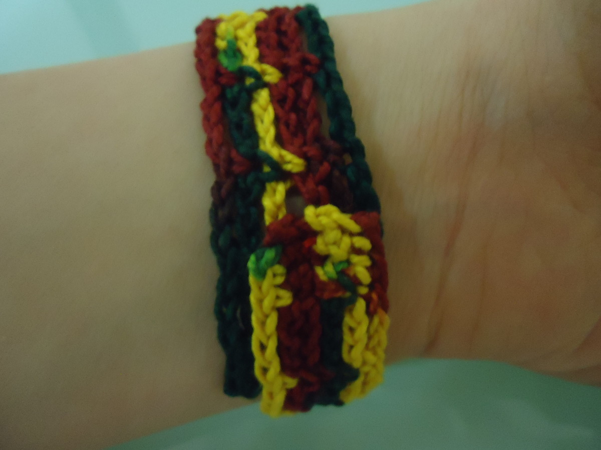 Here is the back view of the closed bracelet. I made the button face inwards so it will not be visible.
