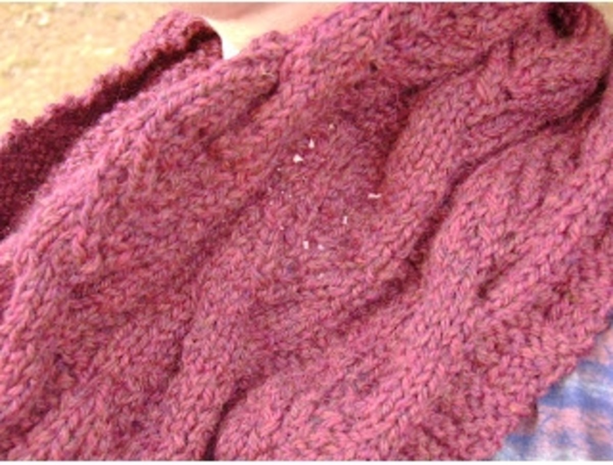detail of modern english cable cowl  (c) purl3agony 2012