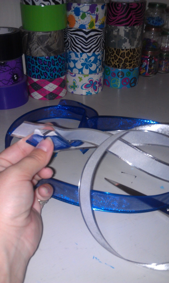Using two colors of ribbon made sure they were the same length