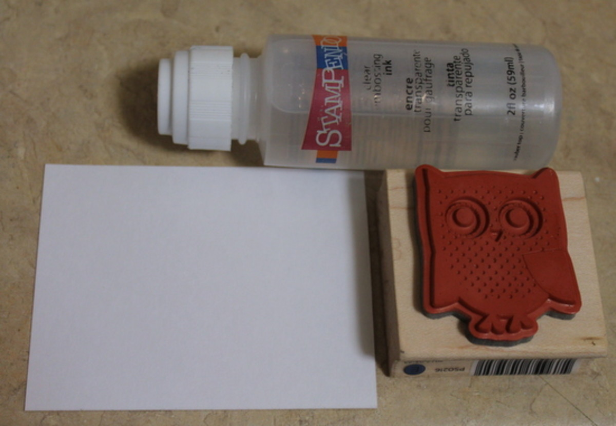 Embossing ink, stamp, and paper