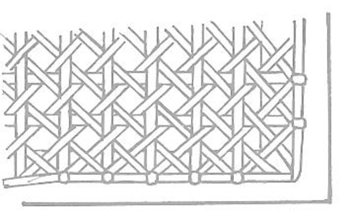Figure 5: Edging the Cane Panel