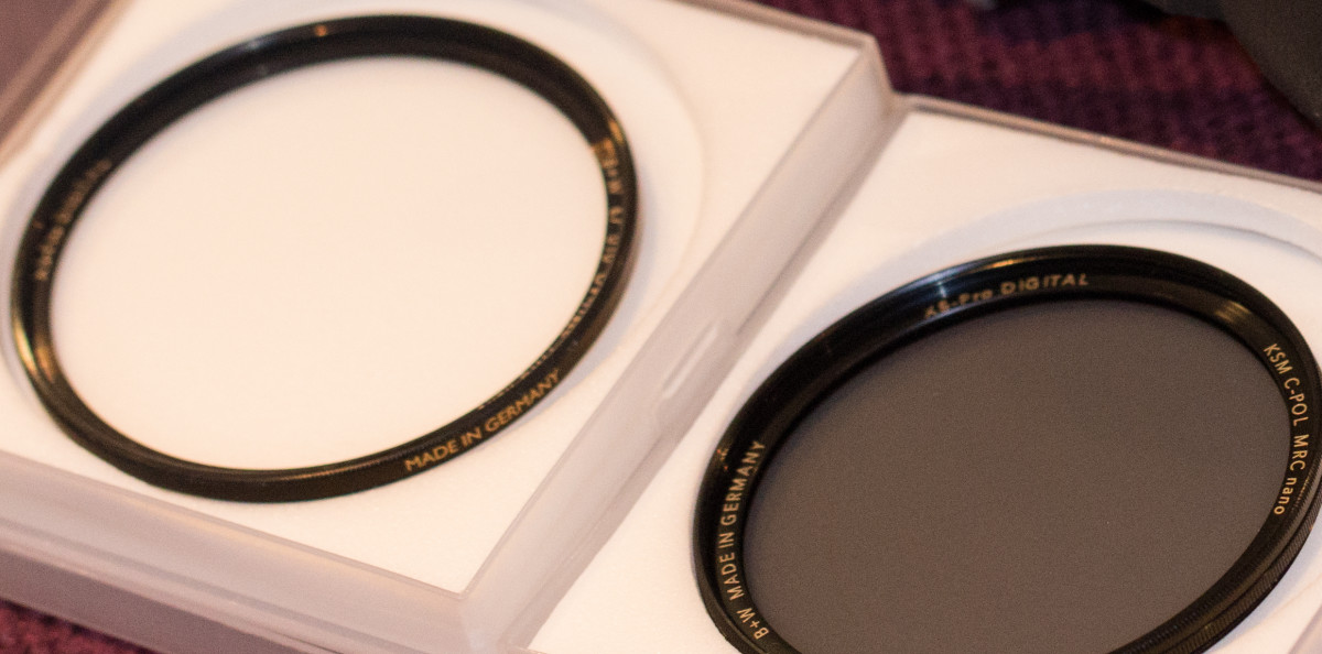 UV and circular polarising filters from B&W - lucky my lenses have the same filter size!