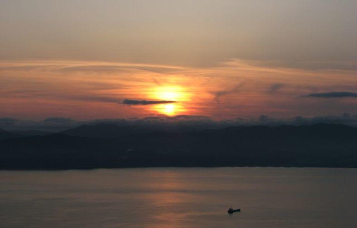 Sunset from Mt. Hakodate, Japan.