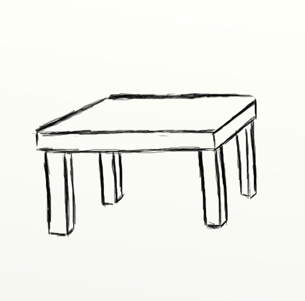 How To Draw A Table Feltmagnet