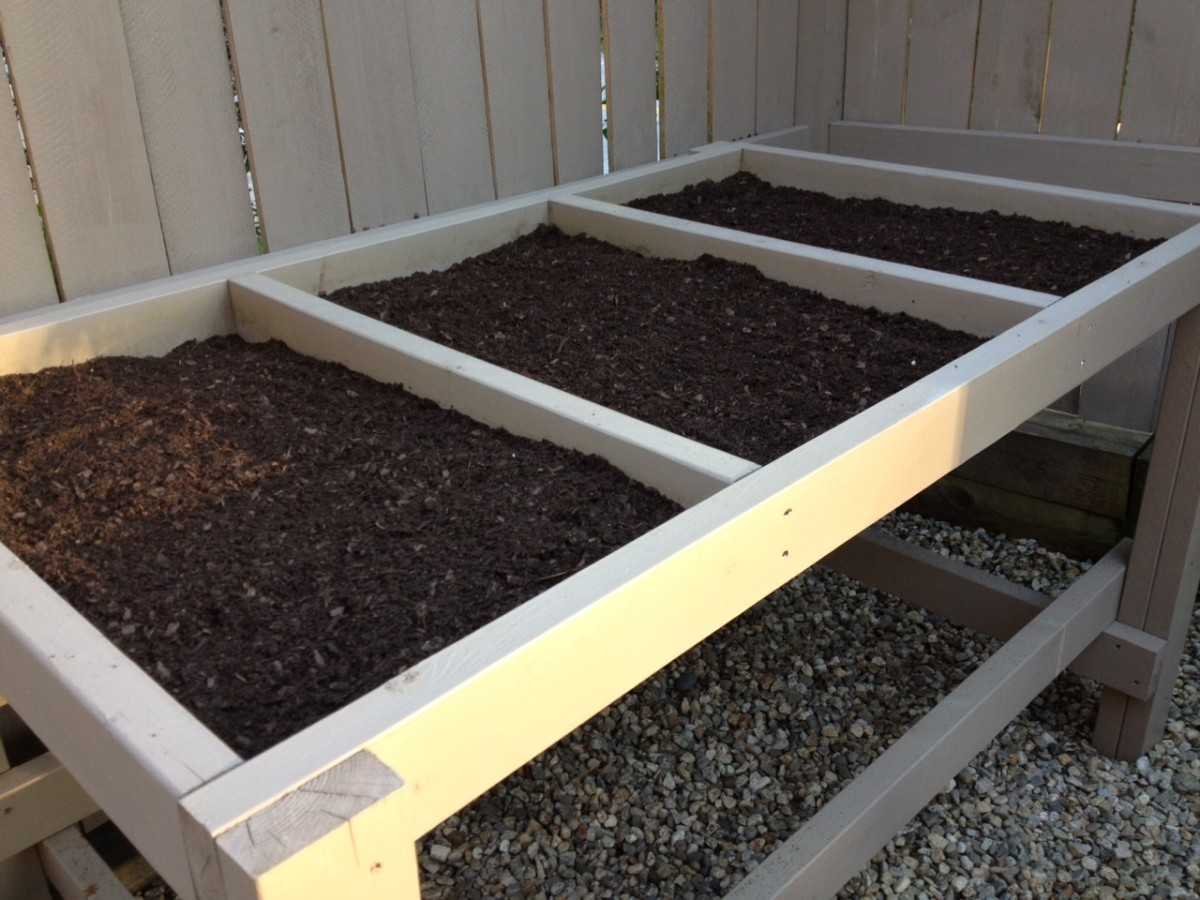 Be sure to fill each compartment with soil to the top. The soil will settle slightly over time.