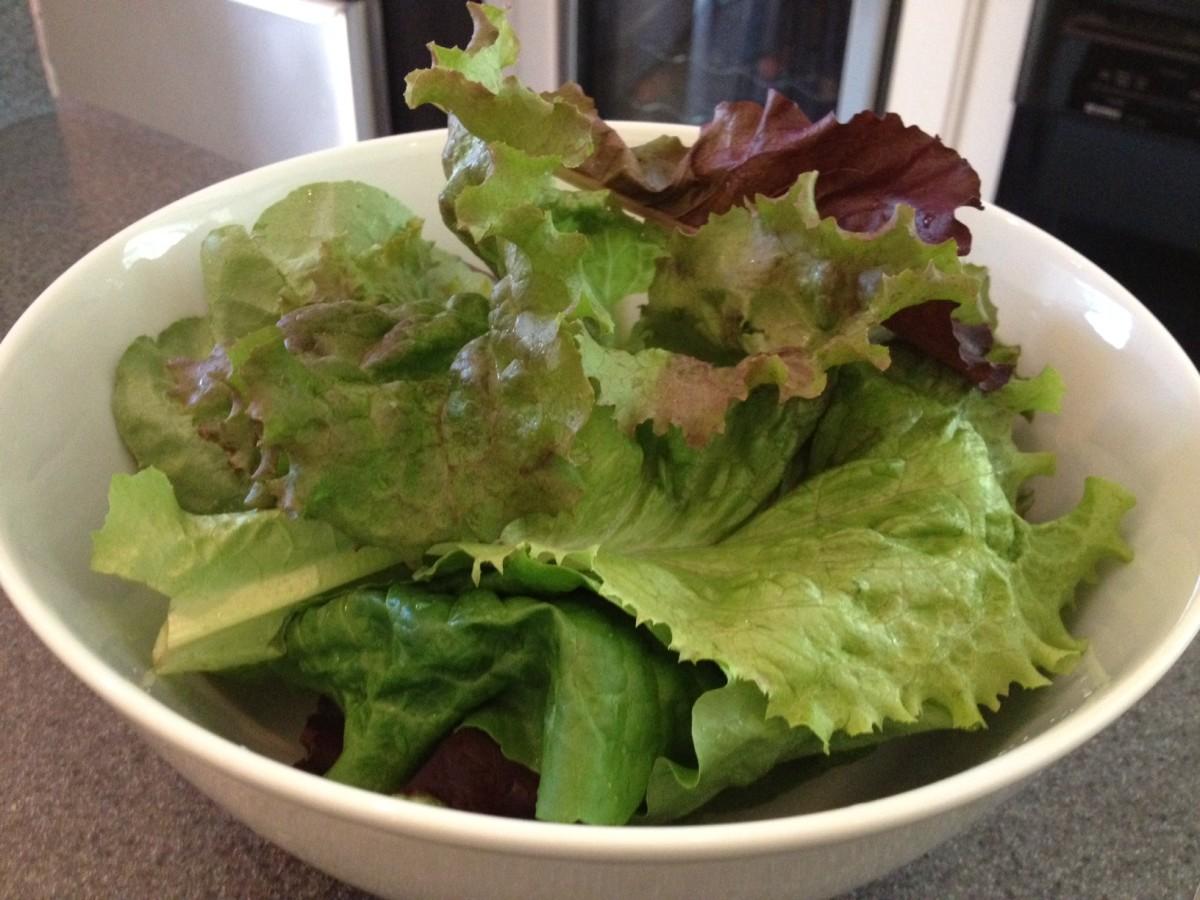 Ready to make a nice mixed salad.