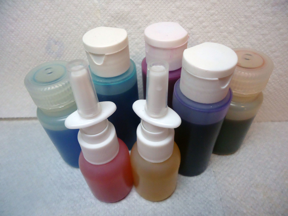 Use alcohol inks to add color to shimmer mist.