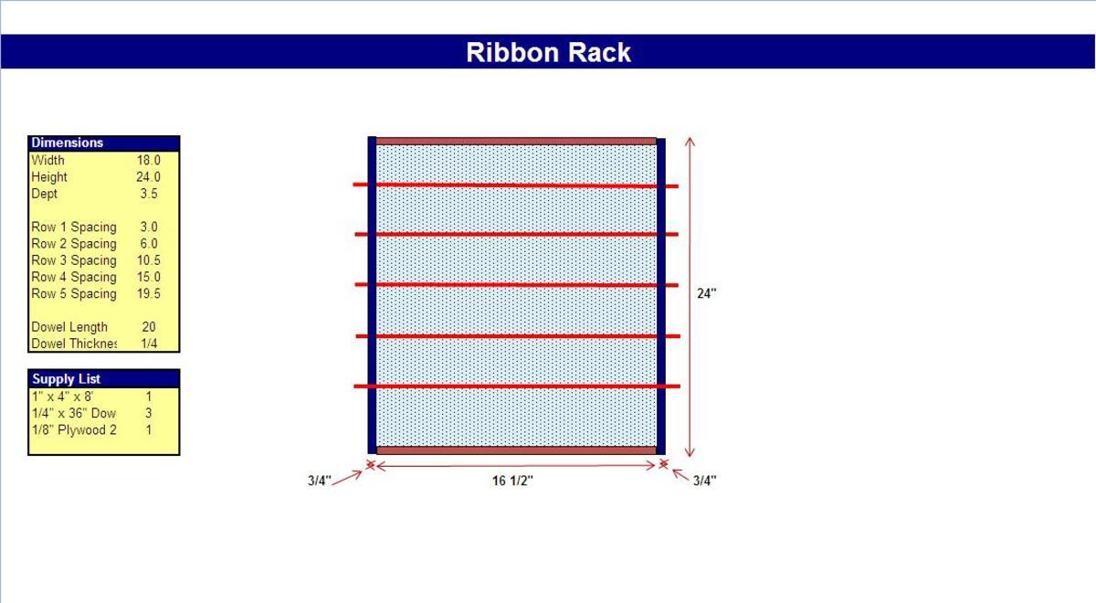 Portable Ribbon Holder Plans