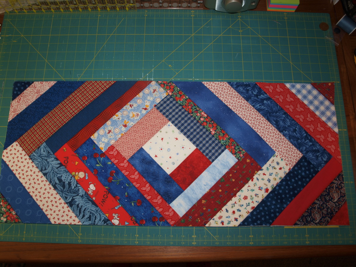 Table runner trimmed and ready for binding.