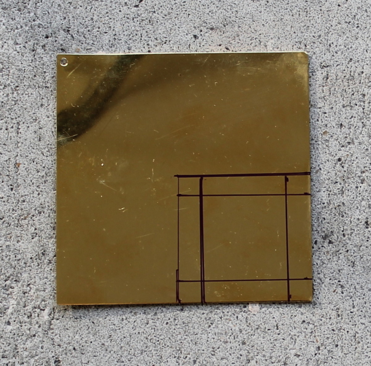 "Then make a smaller, 1"" square inside the 1.5"" square."