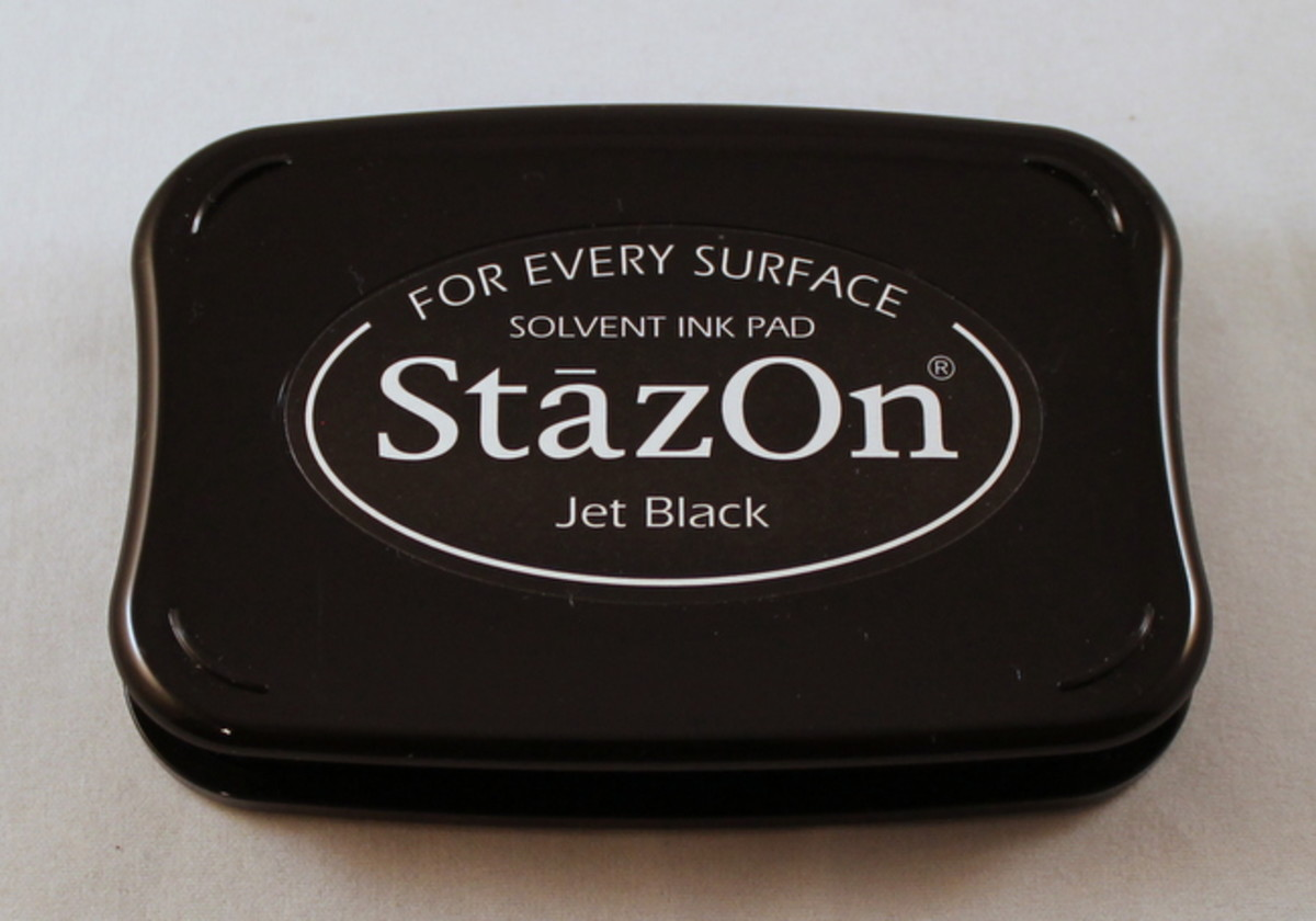 StazOn ink is specially formulated to adhere to metal and I highly recommend it for metal etching.