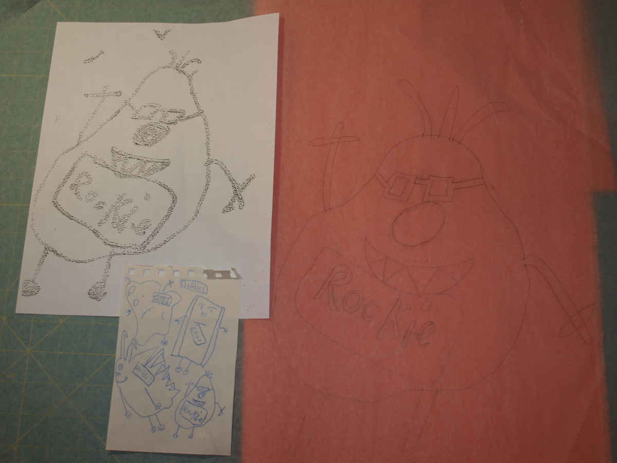 2. Using tracing paper, trace the copy version, making it even larger if desired.