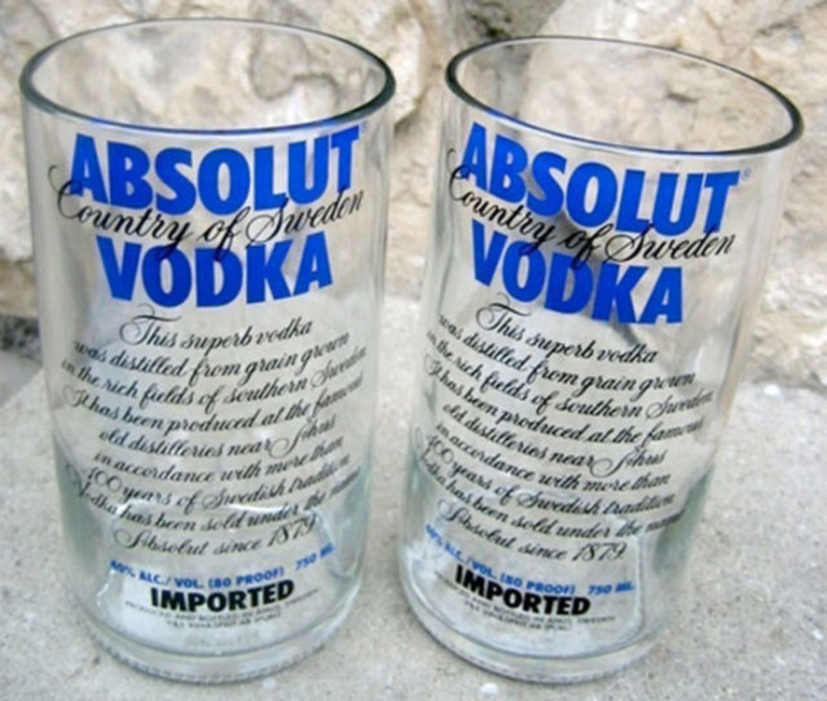 Glasses like these are real conversation starters.