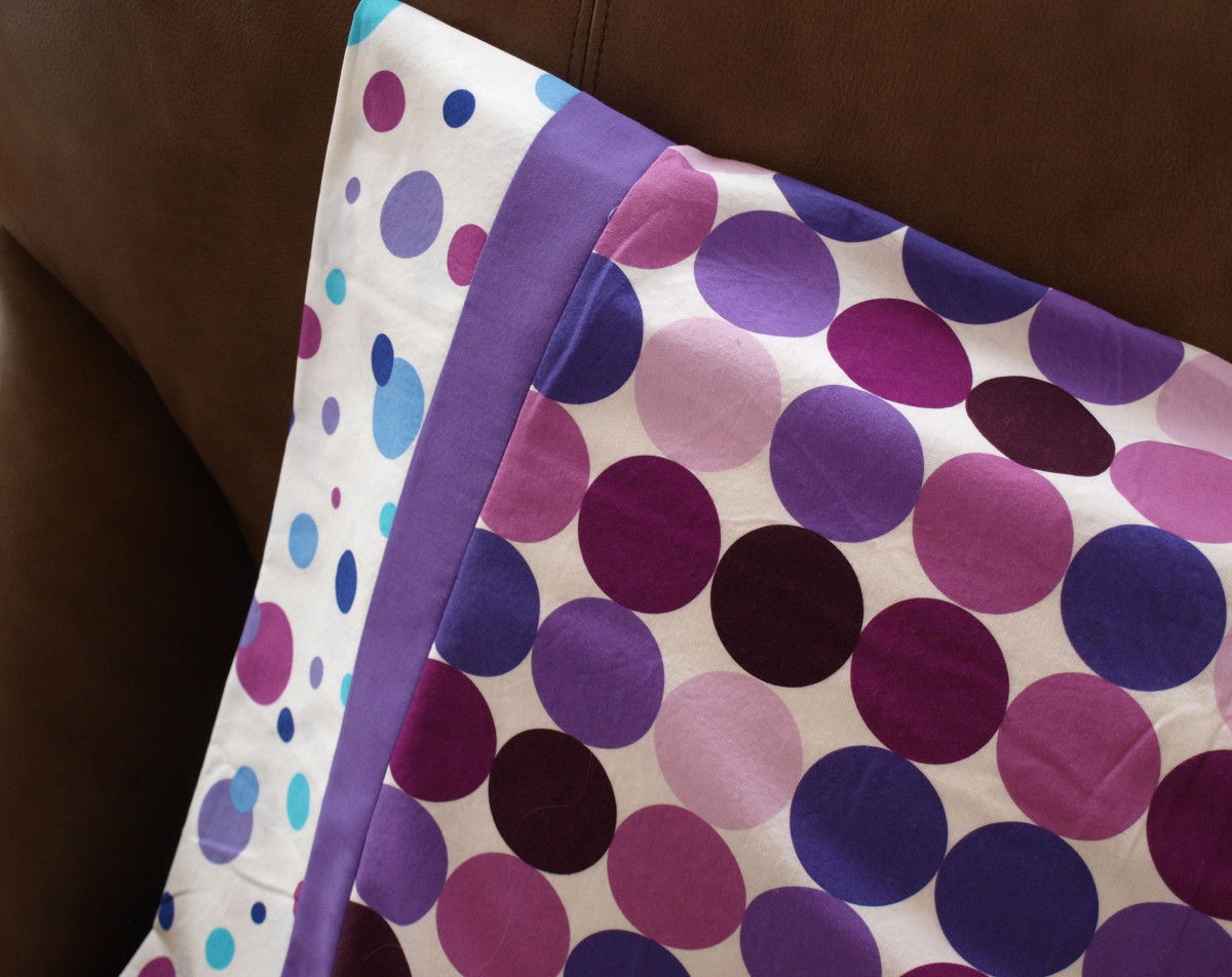 Make a bright and sassy pillowcase for a preteen girl.  They will love it.  Let them choose the fabrics for even more fun.