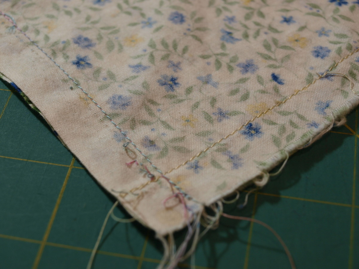 Back stitch at beginning and end when preparing the main section of the pillowcase.