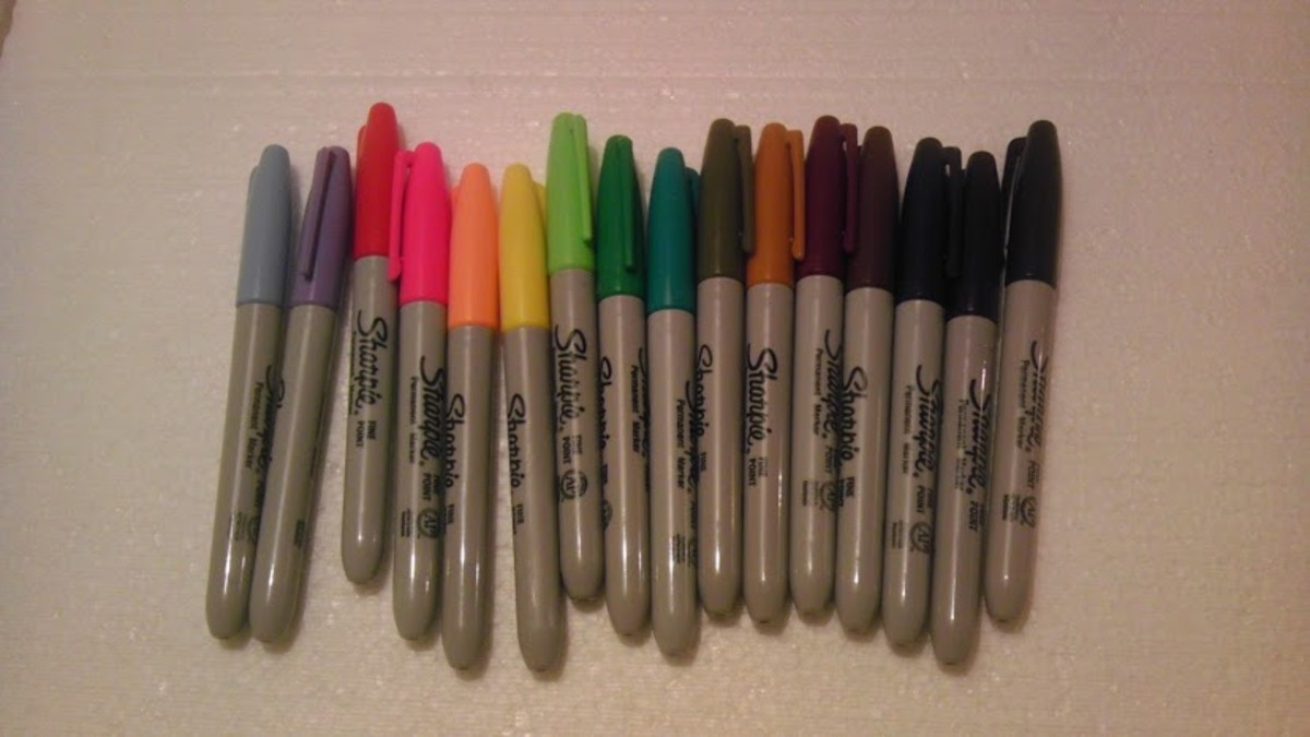 A variety of marker colors