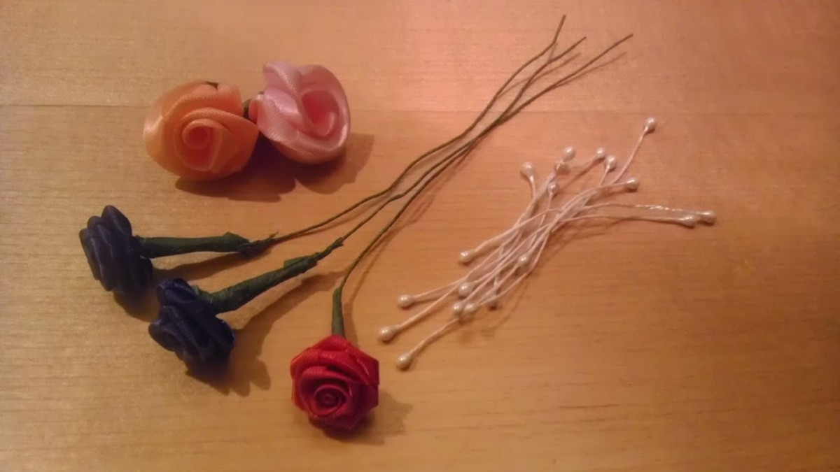 Wired flowers or leftover favor materials can also be used to decorate Barbie hats