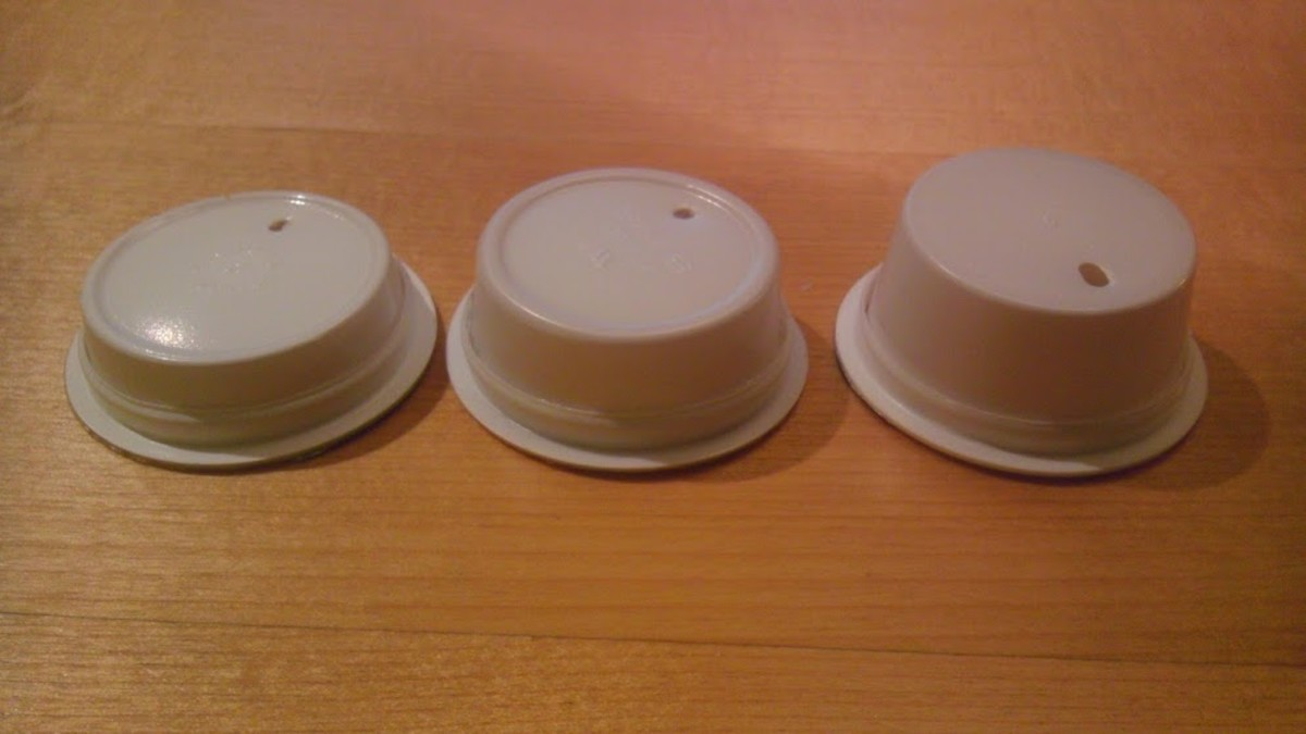 Behold! Three adorable K-cup Barbie hats of varying heights, just waiting to be decorated!