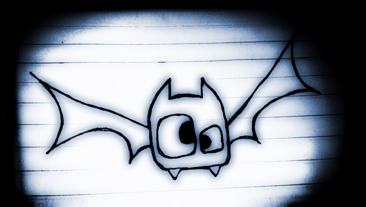 An older drawing of my cartoon bat