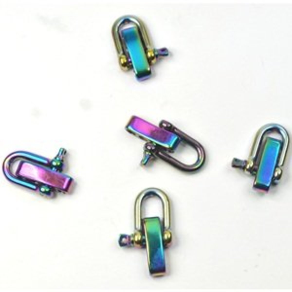 If you can find them these anodized D shackles look really cool.