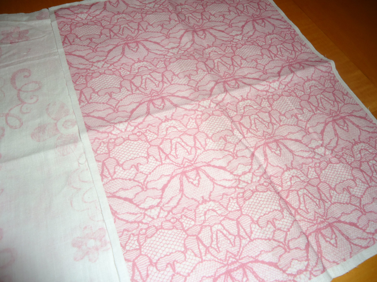 Cute pink lace print