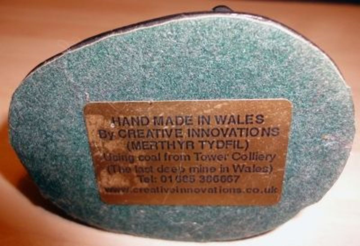 Hand Made in Wales Coal Ornaments