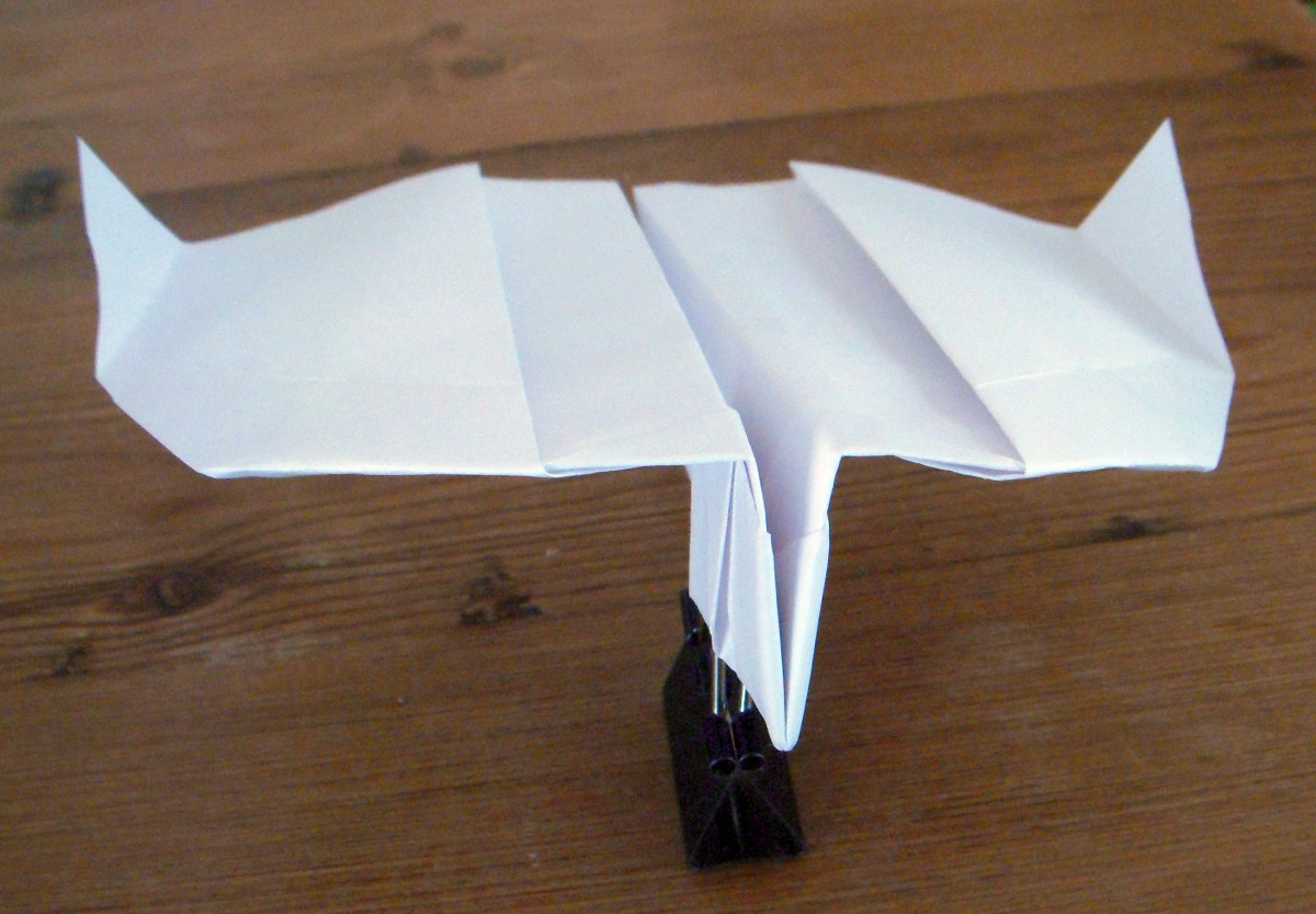 Wonderfully fun boomerang action paper airplane, folded using the Paper Airplane Guy's instructions.