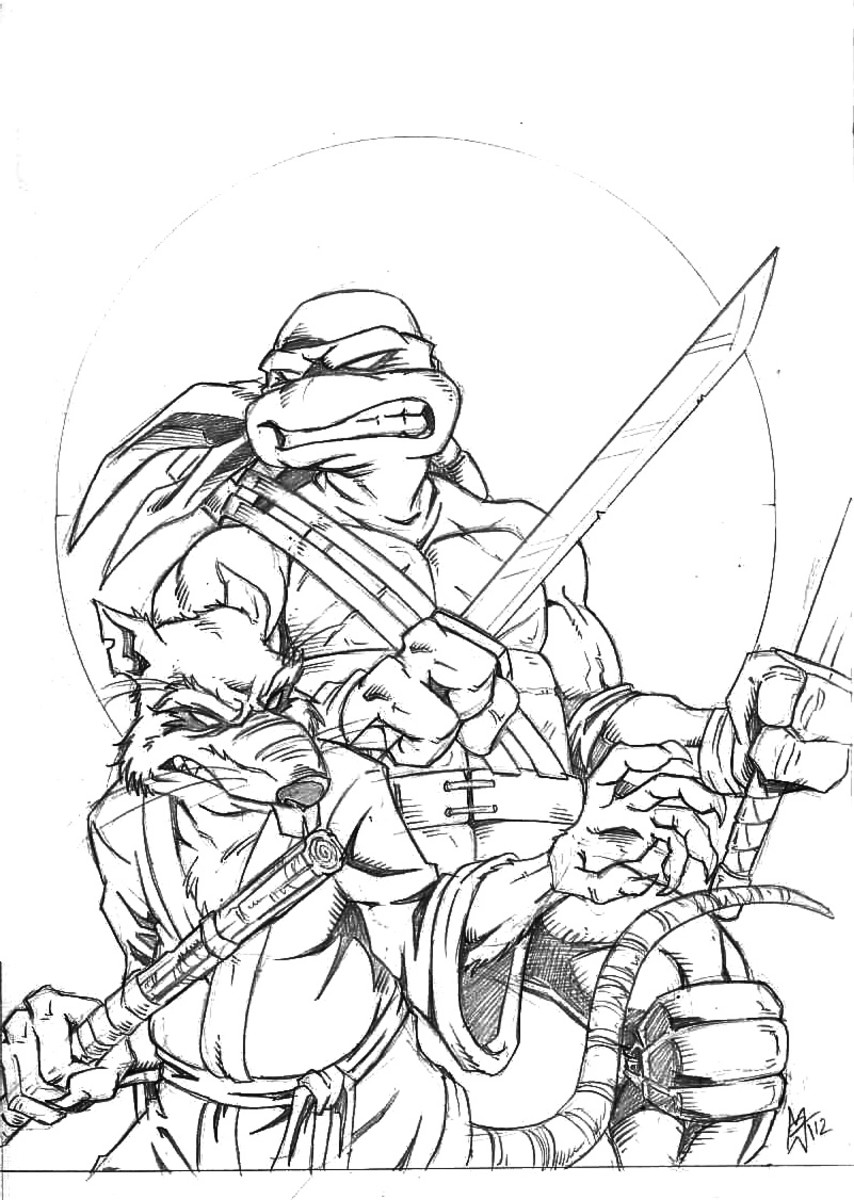 ninja turtle coloring pages splinter - photo #12