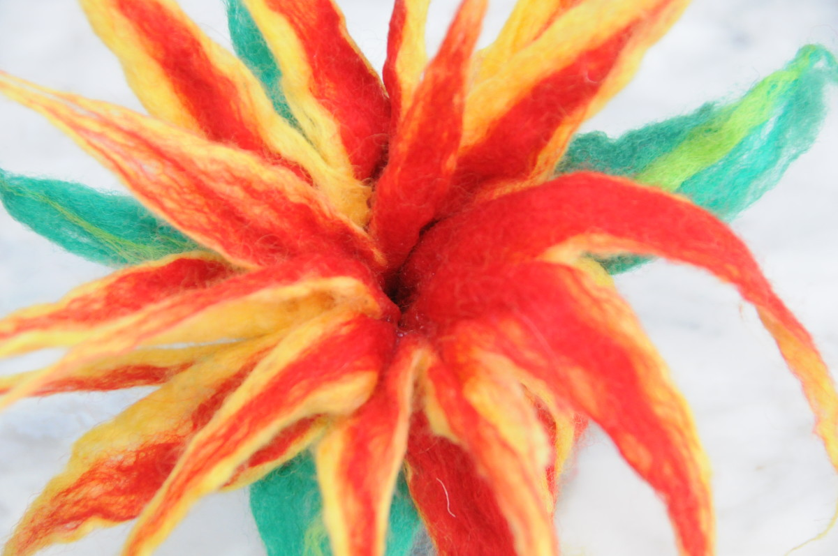 The felted flower