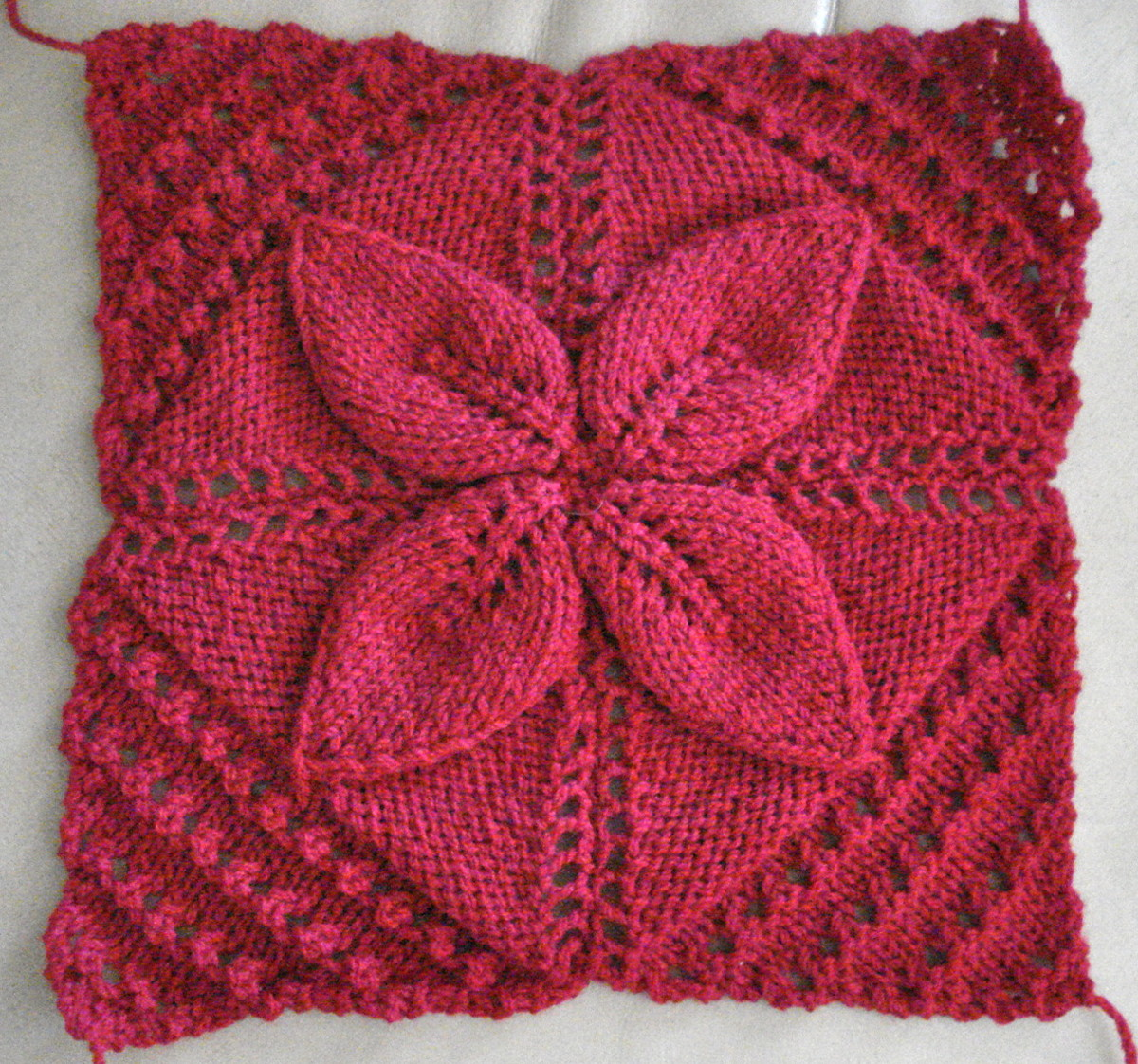 Double Leaf Knitting Pattern : Knitting Project: a Cosy Rug FeltMagnet