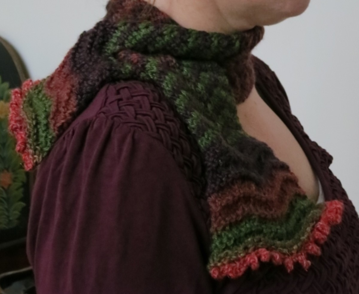 Blooming Colors Scarflet  (c) purl3agony 2013