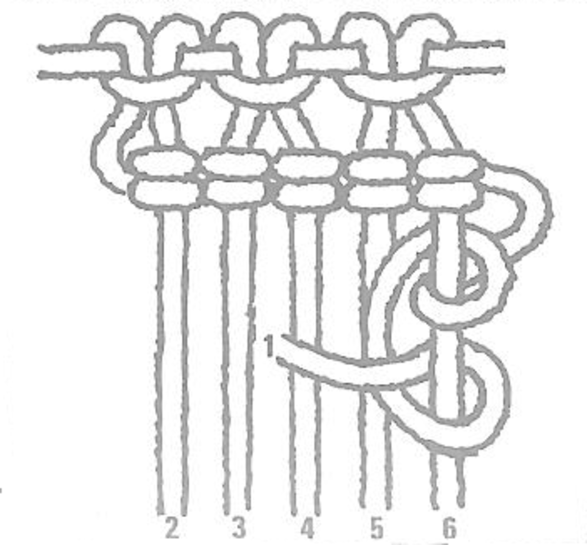 Figure 13 - Vertical Half Hitch Cording