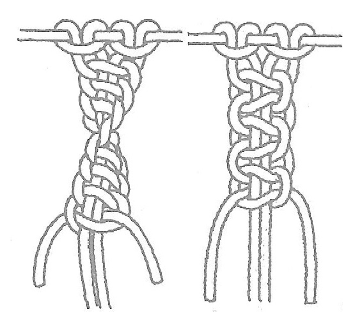 Macrame How To Tie Basic Knots Make Chains Braids Cording